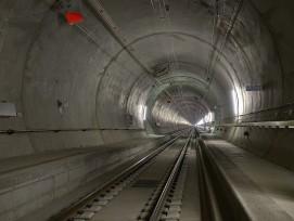 Im Gotthard-Basistunnel