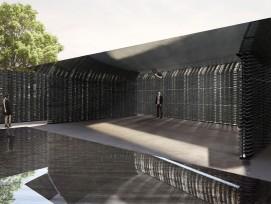Zwei Volumen bilden den diesjährigen Serpentine Pavillon in den Kensington Gardens von London.