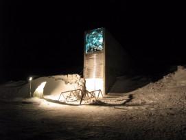 DerSvalbard Global Seed Vault in der Nacht...
