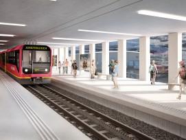 So soll die Bergstation der V-Bahn zum Eigergletscher künftig aussehen.