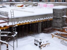 Baustelle im Winter, Symbolbild