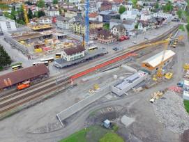 Der Bahnhof Ilanz wird derzeit umgebaut und modernisiert.