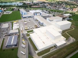 Logistikzentrum der Geberit-Gruppe in der süddeutschen Stadt Pfullendorf