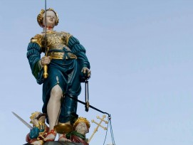 Gerechtigkeitsbrunnen in Bern, Symbolbild.