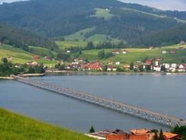 Viadukt über den Sihlsee bei Willerzell.