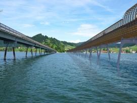 So könnte die Holzbrücke über den Sihlsee aussehen.