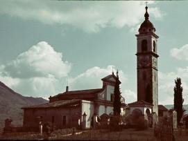 Die Kirche von Gentilino um 1941.