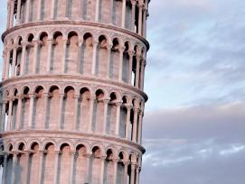Schiefer Turm von Pisa.