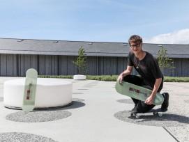 Der Bauingenieur-Student Damien Sommer entwickelte ein Skateboard aus Fiberglas.