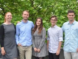 Die Studierenden (v.l) Jessica Langer, David Jung, Stella Harper, Jon Went, Marcel Scheiwiller.