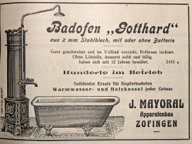 Vor fast 100 Jahren taufte man einen simplenBadofen auf den Namen «Gotthard».