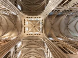 Gotisches Gewölbe der Kathedrale von Laon F