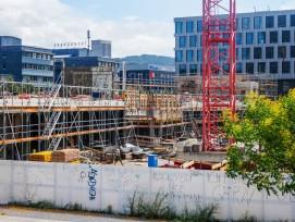 Bau Schulanlage am Pfingstweidpark Zürich