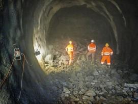 Baustelle Ruckhalde-Tunnel im Jahr 2016.