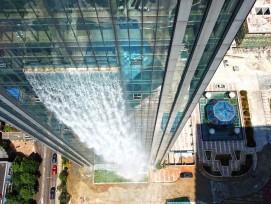 Ganze 107 Meter lang ist der Wasserfall.