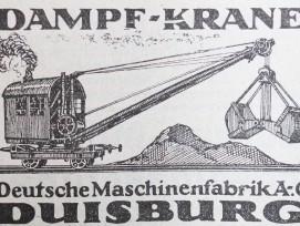Vom grossen deutschen Industriekonzern Demag, existieren heute nur noch Einzelunternehmen.Dampf-Krane gibt es hingegen noch. Früher ähnelten sie jedoch eher einer Zug-Kabine anstatt einer Baumaschine.