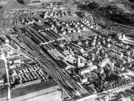 Industriegeschichte: Die Schweizerische Wagons- und Aufzügefabrik im Jahr 1947.