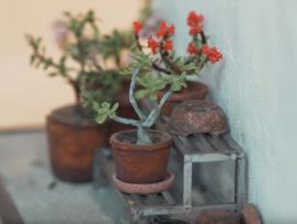 Ein Miniatur-Blumentopf der Künstlerin Pui Wan.