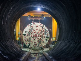 Brenner-Basistunnel: Erkundungsstollen Ahrental-Pfons des Brenner-Basistunnels.