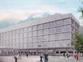 Im Zug des Ausbaus des Bahnhofs zum Kantonsbahnhof will die Urner Kantonalbank (UKB) für rund 35 Millionen Franken ein neues Dienstleistungsgebäude bauen und ihren Hauptsitz dorthin verlegen. (Quelle: zvg)