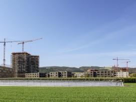 Auf dem Suurstoffi-Areal in Risch-Rotkreuz wird noch immer gebaut.