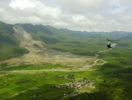 Erdrutsch auf Leyte, Philippinen.