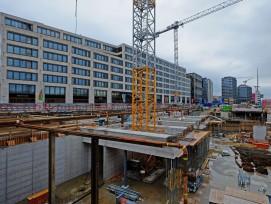 Baustelle Europaallee Zürich im Jahr 2016.
