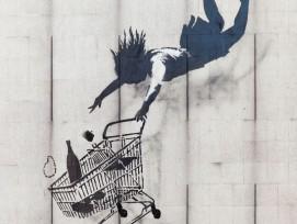Eine Kreation von Banksy in London.