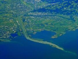 Rheinmündung in den Bodensee.