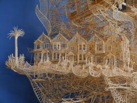Über 100'000 Zahnstocher wurden für die Skulptur «Rolling Through the Bay» verwendet.