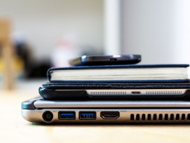 Laptop, Tablet und Smartphone