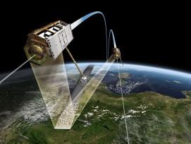 """Satellitenzwillinge """"TerraSAR_X"""" und """"TanDEM-X""""."""