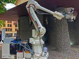 Der mobile Roboter.