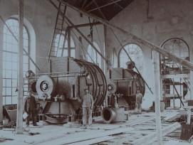 Die Gaswäscher mit Arbeitern zwischen 1900 bis 1909.Die Gaswäscher mit Arbeitern, aufgenommen zwischen 1900 und 1909.