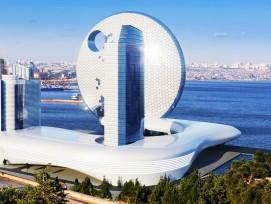 So hätte das «Full Moon Hotel» nach Entwürfen des südkoreanischen Büros Heerim Architects aussehen können.Die Visualisierung von Expedia zeigt: So hätte das «Full Moon Hotel» nach Entwürfen des südkoreanischen Büros Heerim Architects aussehen können.