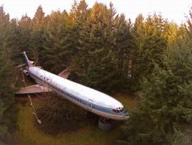 Die Boeing 727 von oben.