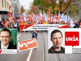 In Zürich demonstrierten 4000 Bauarbeiter.