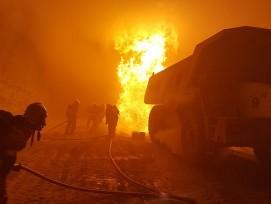 Auf der Tunnelbaustelle zum Gubrist fand am Mittwoch eine Brandübung statt.