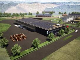 Visualisierung des neuen Werkhof in Luterbach.