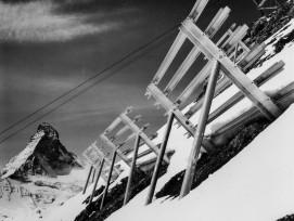 Lawinenverbauungen in Zermatt/Schweifinen, 1957.