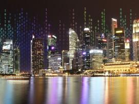 Die Marina Bay in Singapur.