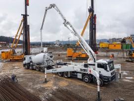 Gründungsarbeiten auf Winterthurer Baustelle