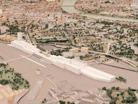 Auf einem Teil des Güterbahnhofs Wolf in Basel entsteht ein neues Stadtquartier.