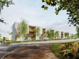 Das Siegerprojekt für die neue Wohnüberbauung am bisherigen SRG-Standort auf dem Basler Bruderholz