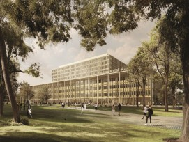 Das Gebäudekonzept des Siegerprojekts «Dreiklang» besteche durch «seine integrierende Funktionalität,  durch die klare Trennung ambulanter und stationärer Medizin sowie durch seine Flexibilität.»