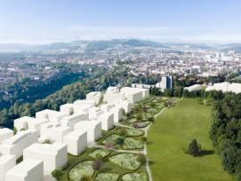 Das Siegerprojekt für den Städtebau und den Stadtteilpark auf dem Vierer- und Mittelfeld in Bern