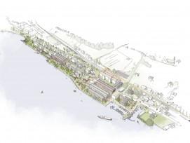 Das Areal am Zürichsee wird in vier Bereiche gegliedert