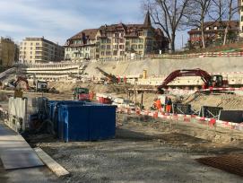 Blick auf die RBS-Baustelle.