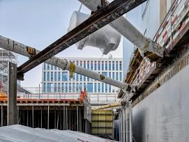 Das australische Unternehmen CSL Behring baut den Standort Bern aus (Bild: Baustelle in Wankdorf).