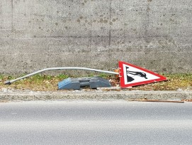 Baustellenschild, Symbolbild.